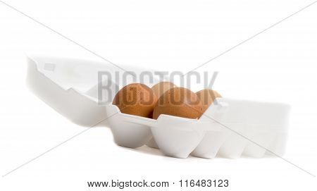 Brown Eggs In A Carton Package