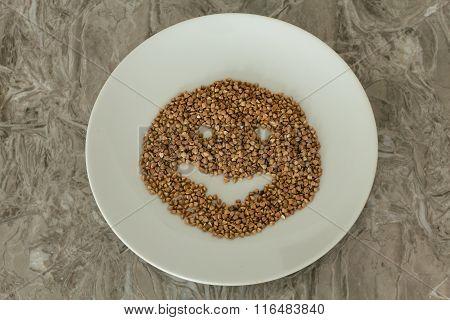 Buckwheat In A Plate