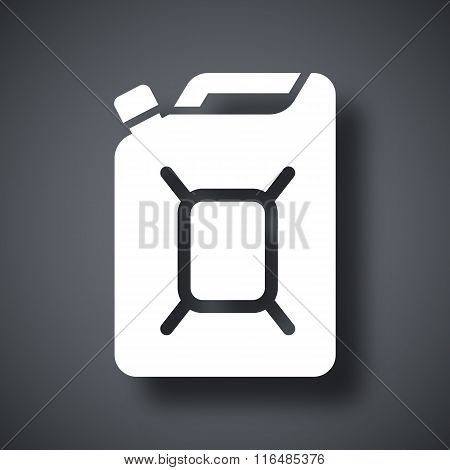 Jerrycan Of Fuel Icon, Vector