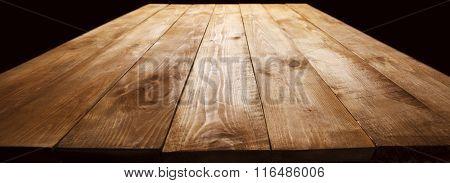 Old dark wooden desk
