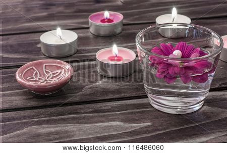 Spa concept with candles
