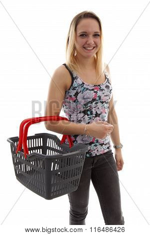Young Woman Is Doing Grocerys