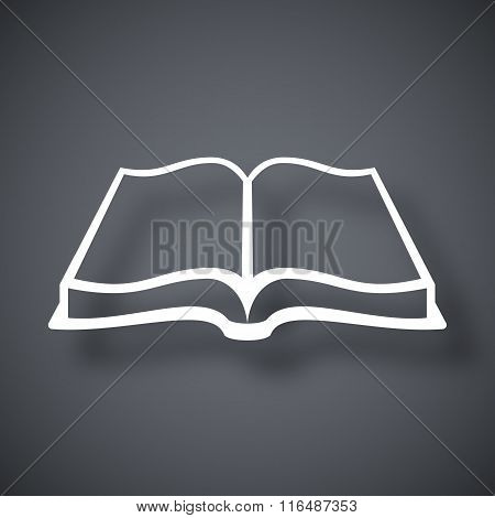Open Book Icon, Stock Vector