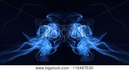 Blue medusa smoke photography