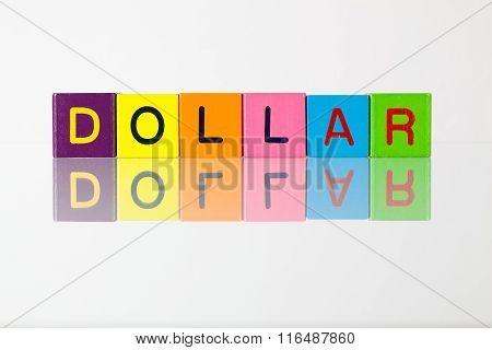 Dollar - An Inscription From Children's Blocks