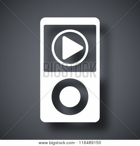 Music Player Icon, Vector