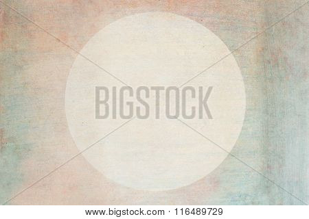 Round Cardboard Blank Tag Label Isolated On Textured Paper Background