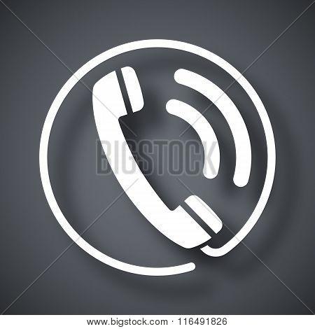 Telephone Receiver Icon, Stock Vector