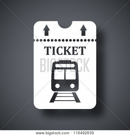 Vector Train Ticket Icon
