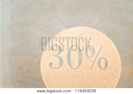 Sale Sign - 30 Percent On Vintage Ancient Background