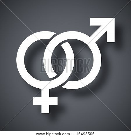 Vector Male And Female Sex Symbols