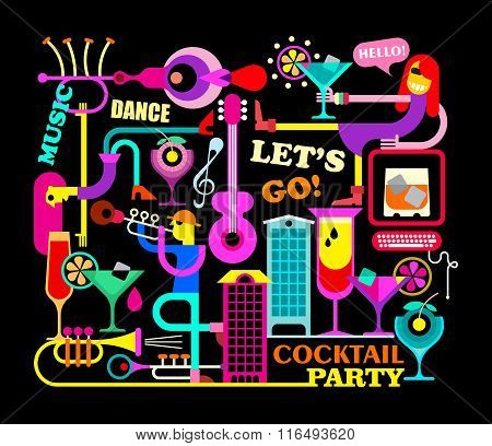 Cocktail Party Illustration