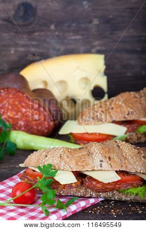 Fresh and Delicious Baguette Sandwiches
