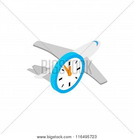 Flight time 3d isometric icon