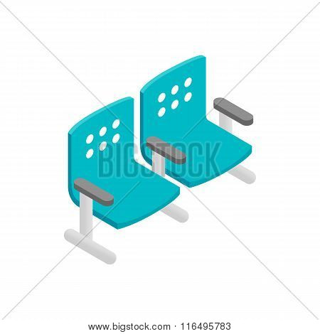 Chairs waiting area isometric 3d icon