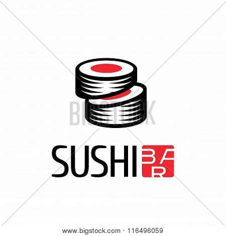 Vector logo, design element for sushi restaurant