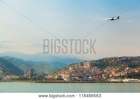 The Plane Flying On Landing
