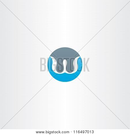 Logo W Letter W Circle Icon Vector Sign