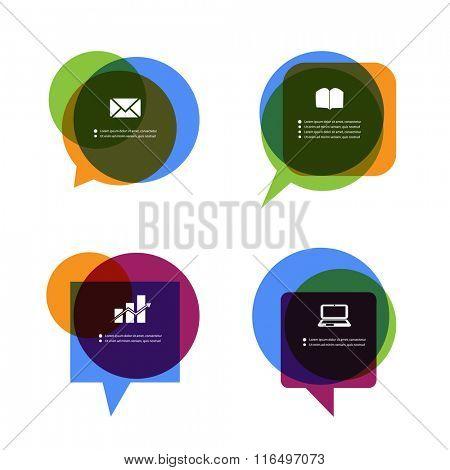 Colorful Speech Bubble Design
