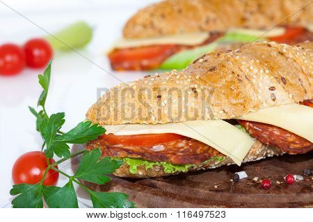 Homemade Italian Sub Sandwiches