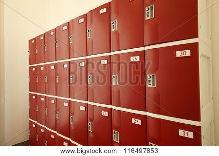 locker room in a health care centre