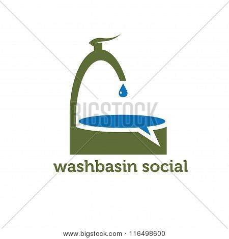 Washbasin Social Concept