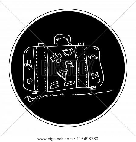 Simple Doodle Of A Suitcase