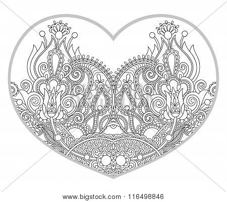 heart shaped pattern for adult and older children coloring book