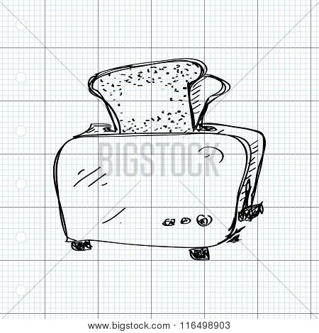 Simple Doodle Of A Toaster