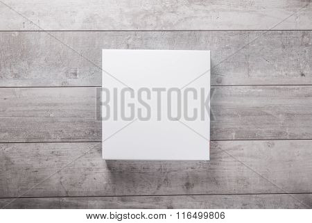 wood wall and blank paper card