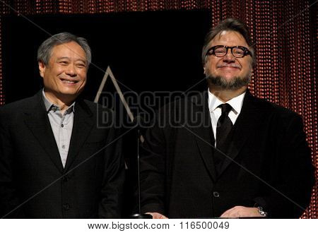 Ang Lee and Guillermo del Toro at the 88th Oscars Nominations Announcement held at the Academy Of Motion Picture Arts And Sciences in Beverly Hills, USA on January 14, 2016.
