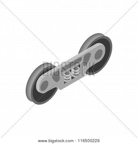 Wheel of train isometric 3d icon