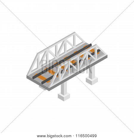 Rail bridge isometric 3d icon