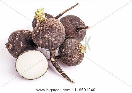 Pile Of Black Radish