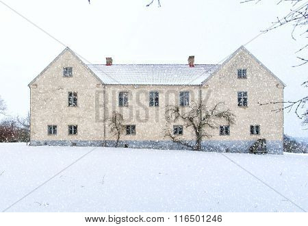 Tommarps Kungsgard Castle In Winter