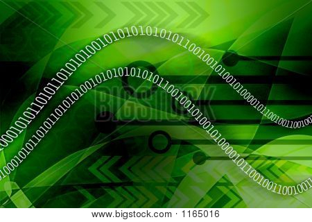 Binary Data Leak - Green Background