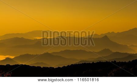 Mountain Leyer Level In Thailand