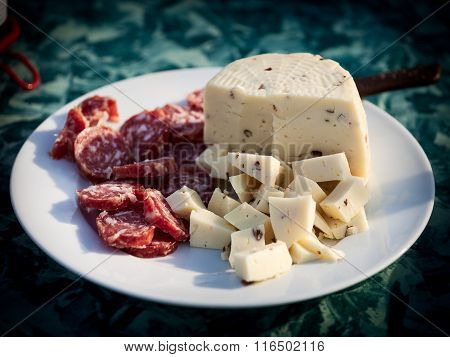 Appetizers, Salami And Cheese