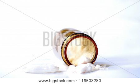 Old Medicine Bottle With Unknown Powder