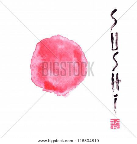 Vector logo, design element for sushi restaurant, Japanese cuisine