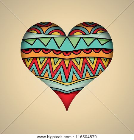 Ornate Heart Card Template