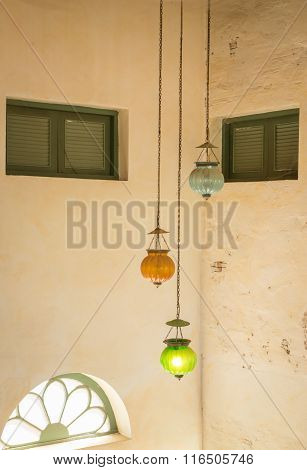 Multi Color Vintage Hanging Light Lamp