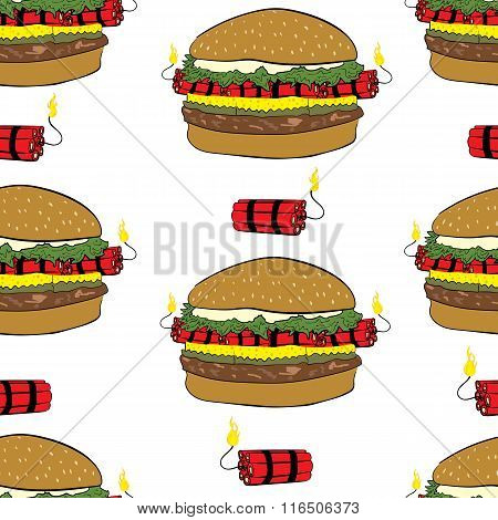 Seamless burgers with dynamite