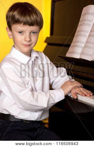 Boy Piano. Piano Player.