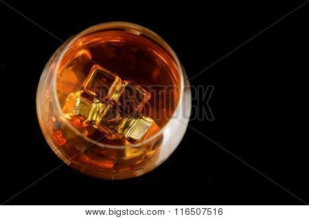 snifter of  brandy in  elegant  glass