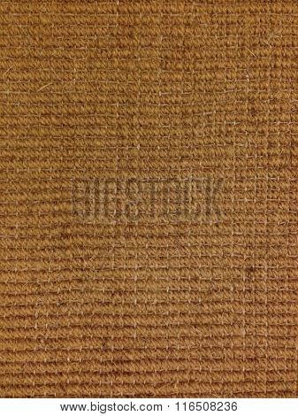 Close up of coconut fibre carpet background