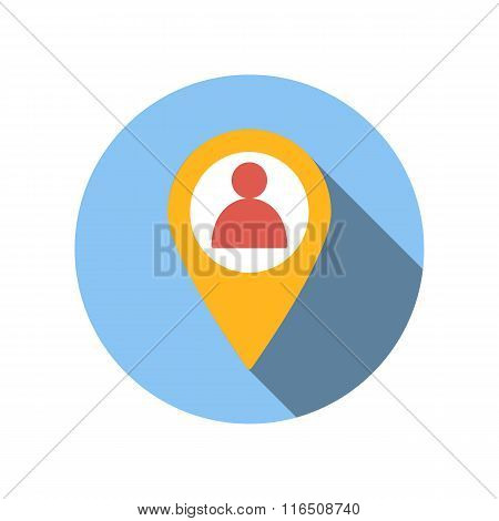 Location people flat icon