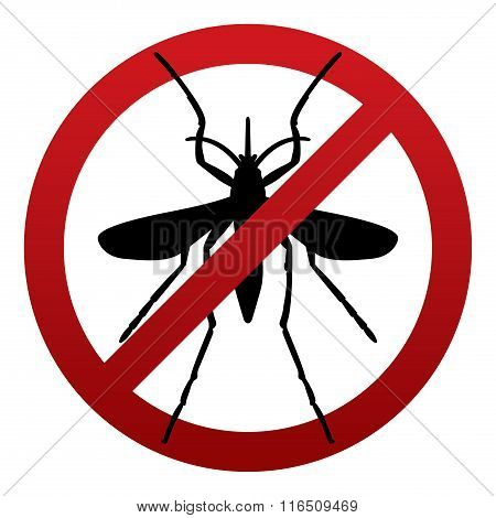 Anti Mosquito Sign Illustration