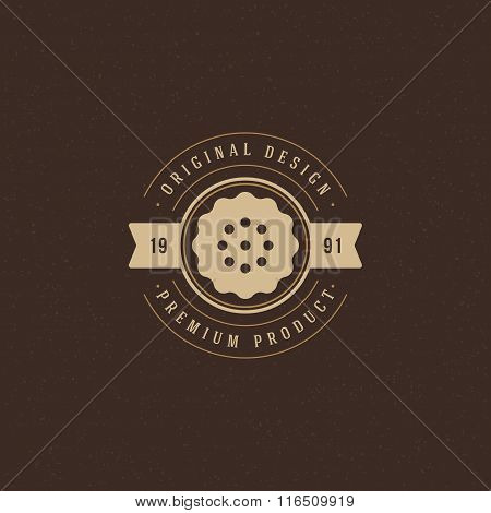 Bakery Shop Logo Template. Vector Design Element Vintage Style for Logotype