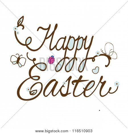 plain picture with the text of Easter